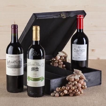 Caixa de vinho Rioja Premium