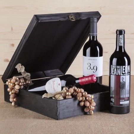 Caixa de vinho catalão premium
