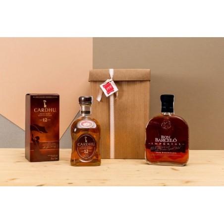Estuche Whisky + Ron
