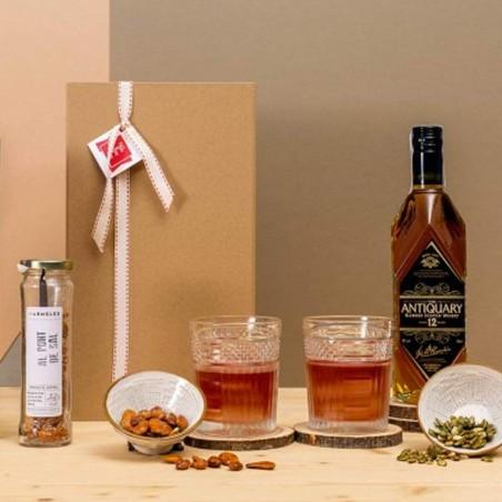 Caisse à whisky antique de...