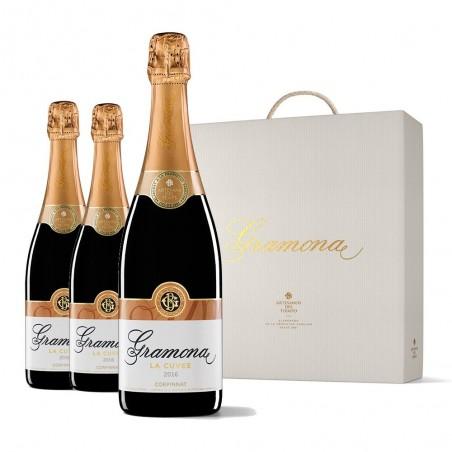 Caixa 3 garrafas Gramona La...